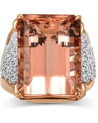 Frederic Sage - 18k Pink Gold One And Only Morganite Ring - Lyst