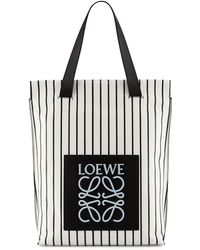 Loewe Striped North-South Shopper Bag - Lyst