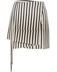 Peter Som Geometric Stripe Apron Wrap Skirt - Lyst