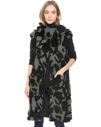Thakoon Addition - Scarf Tie Vest - Charcoal/black - Lyst