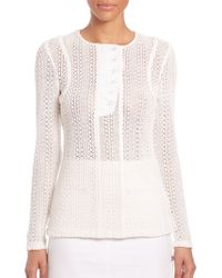 Thakoon | Cotton-blend Knit Top | Lyst