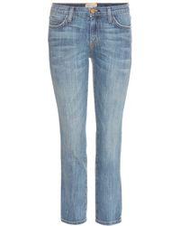 Current/Elliott String Bean Cropped Slim-Fit Jeans - Lyst