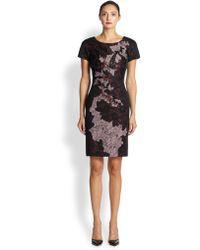Antonio Marras Beaded Lace Applique Dress multicolor - Lyst