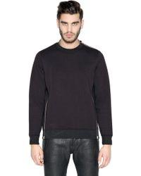 Diesel Black Gold Zipped Neoprene Sweatshirt - Black