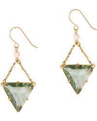 J.Crew Preorder Triangle Crystal Earrings - Lyst