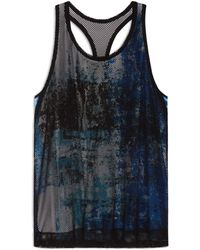 Helmut Lang Tryst Print Jersey Tank - Lyst