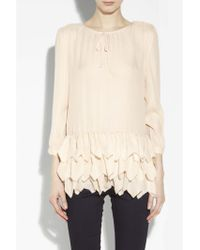 The Great Silk Frill Tunic - Lyst