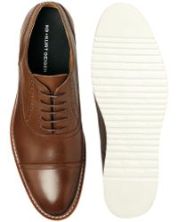 KG by Kurt Geiger Ratner Leather Toecap Shoes - Brown