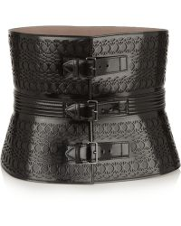 Alaïa Laser-cut Glossed-leather Waist Belt - Lyst