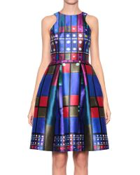 Peter Pilotto Circle Silk Dress - Lyst