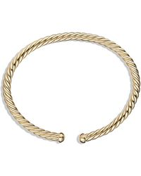 David Yurman Precious Cable Cablespira Bracelet in Gold - Lyst