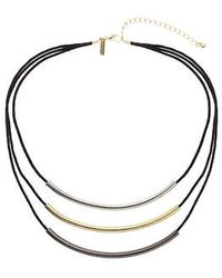 Topshop Multi-Row Bar Necklace - Lyst