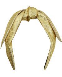 Eugenia Kim Gold Phoebe Floppy Bow Headband - Metallic