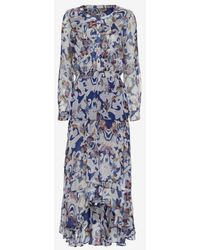 Twelfth Street Cynthia Vincent - Exclusive Long Sleeve Paisley Ruffle Dress - Lyst