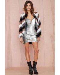 Nasty Gal Helix Sequin Dress - Silver Sequin - Lyst