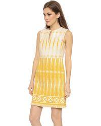 Tory Burch Savora Dress - Honey Mustard - Lyst