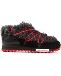 Y-3 Fur Trimmed Hiking Sneakers - Lyst