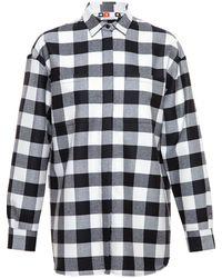 MSGM Plaid Fleece Shirt - Lyst