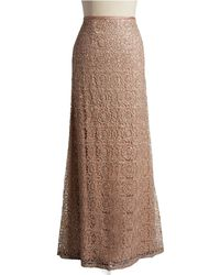 Adrianna Papell Floral Lace Maxi Skirt - Lyst