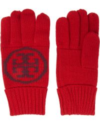 Tory Burch - Intarsia Wool Gloves - Lyst