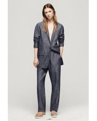 Rag & Bone Battle Blazer blue - Lyst