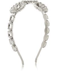 Dolce & Gabbana Silverplated Swarovski Crystal Headband - Lyst