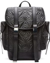 Neil Barrett Black Quilted Leather Prism Backpack - Lyst