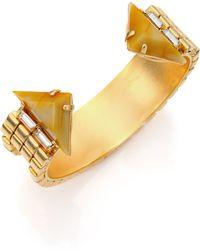 DANNIJO Andy Crystal Cuff Bracelet - Lyst