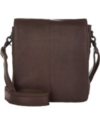 Barneys New York Flap-Front Messenger brown - Lyst