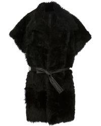 Gareth Pugh | Belted Shearling Coat | Lyst