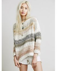 Free People Awash In Stripes Pullover - Lyst