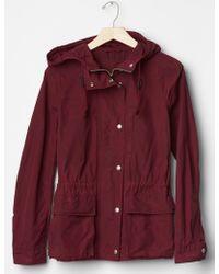 Gap Nylon Utility Hooded Jacket - Purple