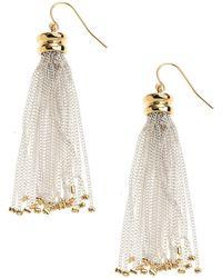 Lauren by Ralph Lauren - Chain Tassel Drop Earrings - Lyst