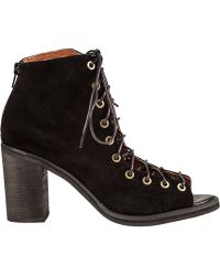 Jeffrey Campbell Cors Ankle Boot Black Suede - Lyst