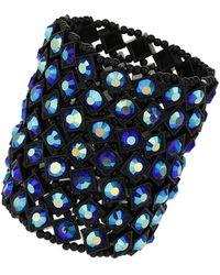 Topshop Iridescent Blue Stone Bracelet - Lyst