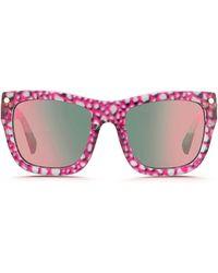 Matthew Williamson X Linda Farrow Pebble Snake Print Square Sunglasses multicolor - Lyst