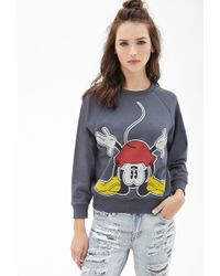 Forever 21 Mickey Mouse Graphic Sweatshirt - Lyst