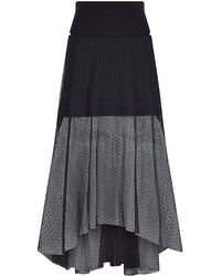 Chloé Sheer Lace Long Skirt - Lyst