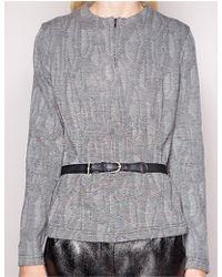 Pixie Market Belted Tweed Top - Lyst