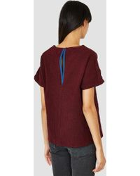 SIDELINE - Emily Top Dark Red - Lyst