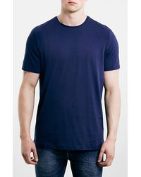 Topman Slim Fit Crewneck T-Shirt blue - Lyst