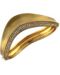 Vince Camuto Goldtone Crystal Accent Bangle Bracelet - Lyst