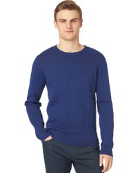 Calvin Klein Slim Blend Engineered Jacquard Sweater - Lyst