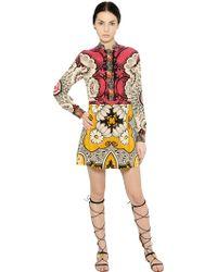 Valentino Printed Silk Crepe De Chine Dress - Lyst