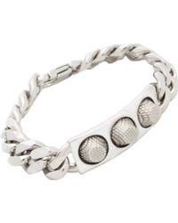 Balenciaga Silver Studded Bracelet - Lyst
