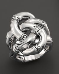 John Hardy Women'S Sterling Silver Bamboo Knot Ring - Lyst