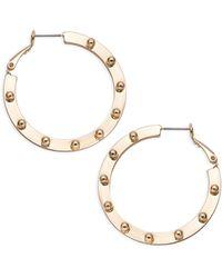 R.j. Graziano Studded Goldtone Hoop Earrings - Metallic