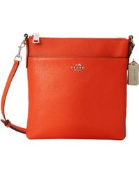 Coach Embossed Txt Leather Northsouth Swingpack - Lyst