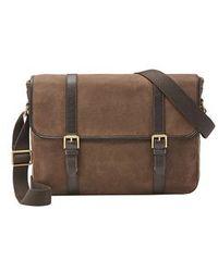 Fossil Estate Mens Messenger Bag - Brown