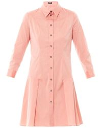 Jil Sander Navy Techno Stretch Poplin Shirt Dress - Lyst